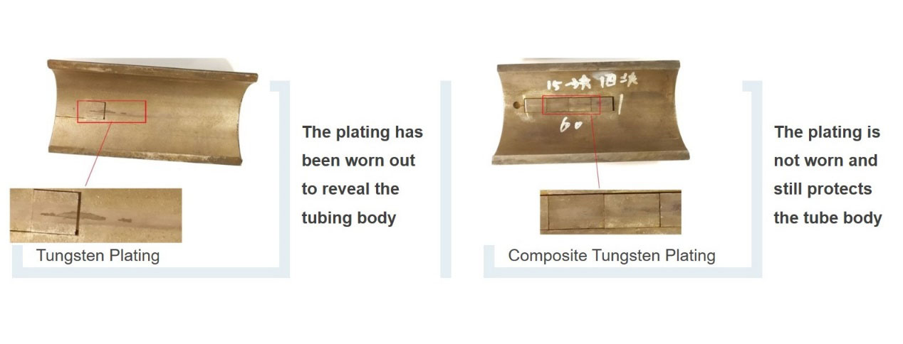 Tungsten plating Experimenta results